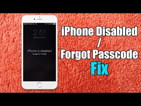 Video Iphone Disabled / Forgot Passcode iPhone Fix - Hard Reset for iPhone 6/5s/5c/5/4s