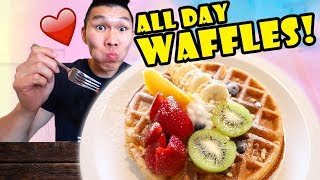 Eating WAFFLES All Day BREAKFAST LUNCH + DINNER || Life After College: Ep. 650