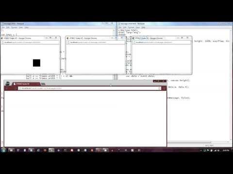 HTML5 Web Messaging API Demo: Multi-window 2D Canvas Game