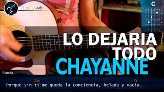 """Cómo tocar """"Lo Dejaría Todo"""" de Chayanne en Guitarra Acústica (HD) Tutorial - Christianvib"""