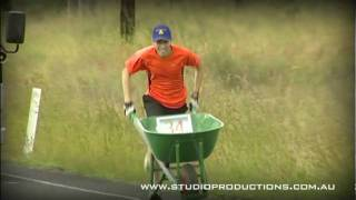 The Great Wheelbarrow Race is an annual charity event held each May in Far North Queensland, Australia. Teams of 10, duo or solo push a wheelbarrow 142kms from Mareeba to Chillagoe.