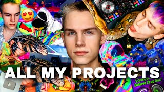 ALL MY PROJECTS (I do A LOT ⭐) | Pets 🐍 , Tech 💻, Fashion 🔥, Music 🎵 & MORE!