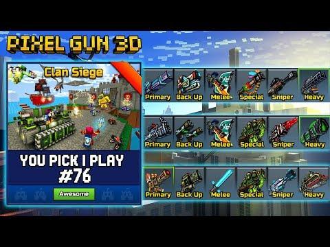 You Pick,I Play! #76 - Clan Siege Battle - Pixel Gun 3D