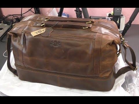 SID & VAIN - Leder Reisetasche mit separatem Schuh-Fach