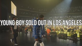 @YoungBoy Never Broke Again at Microsoft Theater Still Flexin Still Steppin tour, VLOG 27