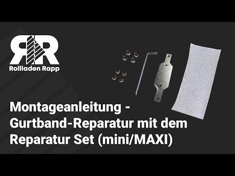 Montageanleitung - Rollladen Gurtband-Reparatur mit dem Reparatur Set von rolllra.de (mini/MAXI)