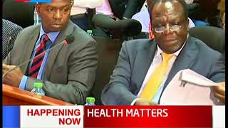 Governor Wycliffe Oparanya appears before the Adhoc Committee | HEALTH MATTERS