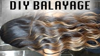DIY CHEAP BALAYAGE ON DARK HAIR / OMBRÉ AT HOME!!! (SUPER EASY!!)