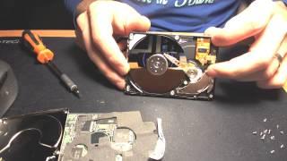 Hitachi laptop Hard Drive dismantle HDD