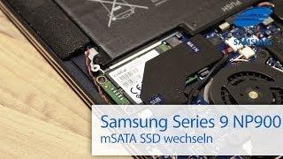Samsung Series 9 NP900 X3C mSATA SSD wechseln