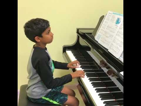 A pure delight to see student enjoys practicing exercises! Great work, Aryan. (8 years old)