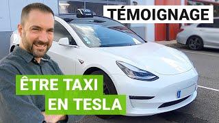 TeXla : un TAXI heureux en TESLA Model 3