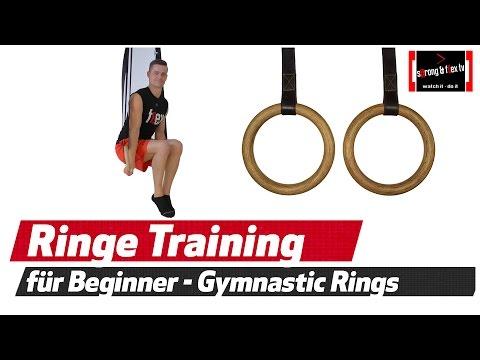 Gymnastikringe - Workout für Anfänger