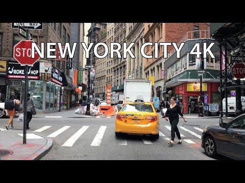 Drive 4K - Wall Street - New York City USA