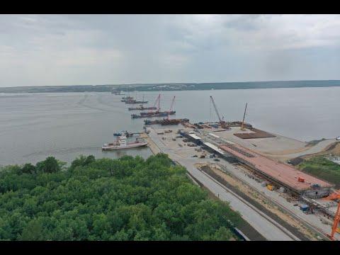 Появилось видео старта надвижки моста через Волгу