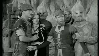 Rock Men speaking normally; Flash Gordon serial 1940.