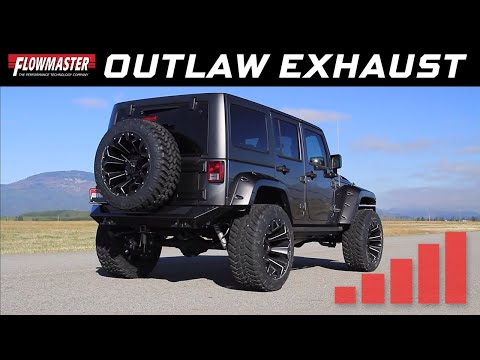 2012-18 Jeep Wrangler JK 3.6L - Outlaw Axle-back Exhaust System 817752
