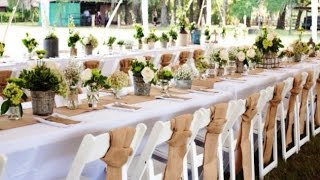 Burlap Wedding Ceremony Decorations