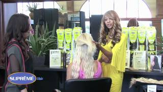 Supreme 15 minute to fabulous! Clip on Hair makeover