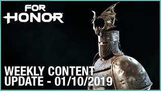 For Honor: Week 01/10/2019   Weekly Content Update   Ubisoft [NA]