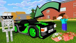 Monster School : BUILDING SUPER CAR Challenge - Minecraft Animation