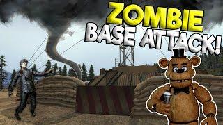 ZOMBIES OVERRUN TORNADO BASE BUILD! - Garry's Mod Sandbox Gameplay - Gmod Zombie Survival