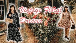 Vintage Floral Dresses LookBook (Vintage Laura Ashley!)