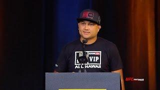 UFC Hall of Fame 2015 - BJ Penn Speech
