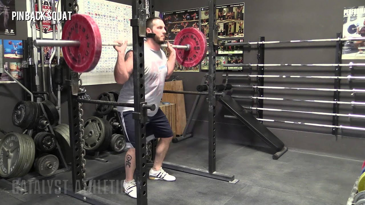 Pin Back Squat Exercise Library Demo Videos