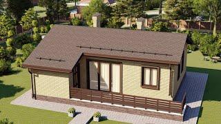Проект дома 070-А, Площадь дома: 70 м2, Размер дома:  10,5х9,3 м