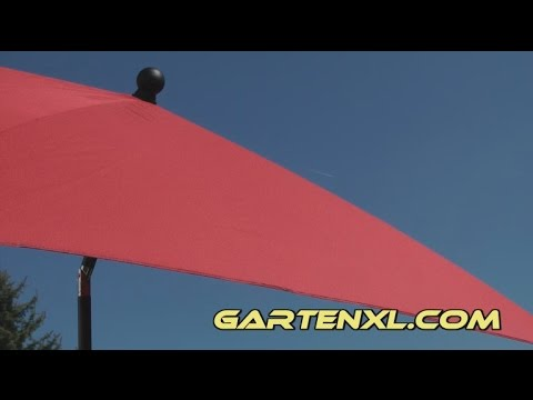 Sonnenschirm / Rechteck-Sonnenschirm von Gardenline bei Aldi Süd (Bedienung, Anleitung)