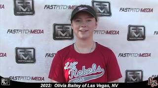 2022 Olivia Bailey Switch Hitting Athletic Second Base Softball Skills Video - Lil Rebels
