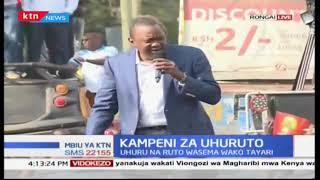 Rais Uhuru Kenyatta azidi kumponda kinara wa NASA Raila Odinga katika kampeni za Ongata Rongai
