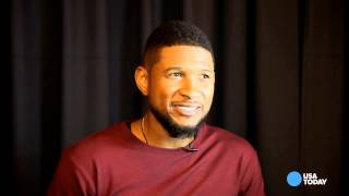 Backstage with Usher at his UR Experience show
