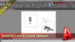 AutoCAD Lock And Unlock Viewport