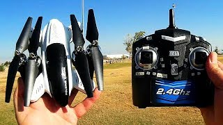 SY X33-1 Cheap Altitude Hold Folding Drone Flight Test Review