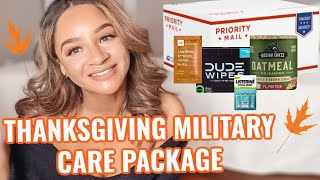 MILITARY CARE PACKAGE IDEAS & TIPS |  Thanksgiving Care Package | +BONUS UNBOXING CLIP