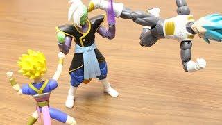 DRAGON BALL STOP MOTION ZAMASU VS SUPER SAIYAN BLUE VEGETA DRAGON STARS  FIGURE