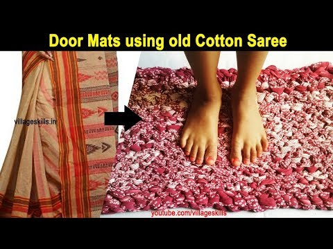 f99820d7e Recycling Ideas From Old Clothes  06how To Make Door Mat From Old Cotton  Saree T Shirtsrugcarpet Sc 1 St Village Skills