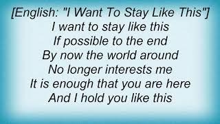 Andrea Bocelli - Voglio Restare Cosi Lyrics