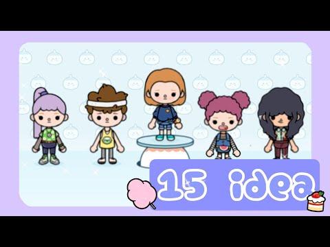 15 идей для создания персонажей в игре toca boca world 1 часть / Yasea