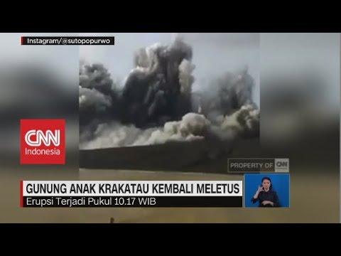 Gunung Anak Krakatau Kembali Meletus