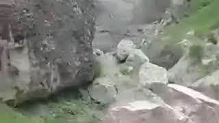 Мощный сель сняли на видео в селе Дагестана