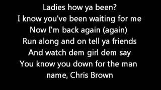 Chris Brown FT KMAC - Twitter  (Lyrics on screen) karaoke In My Zone
