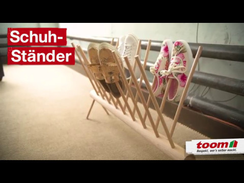 Praktischer Schuhständer für deine Diele | DIY by toom