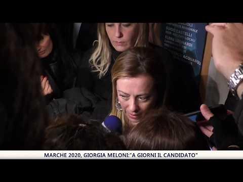 """Marche 2020, Giorgia Meloni: """"A giorni il candidato"""""""