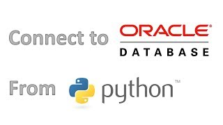 How connect to an Oracle database from Python
