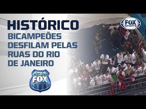 Ao vivo: Flamengo campeão da Libertadores comemora título com torcida pelas ruas do Rio!