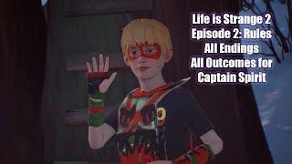 Life is Strange 2: Episode 2 Rules - All Endings - All Captain Spirit Outcomes