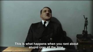 Hitler is losing his voice